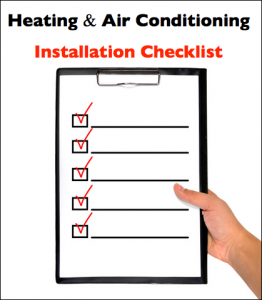 Air Conditioning Installation Checklist