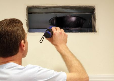 how to find air duct leaks