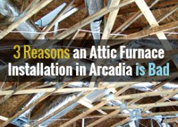 attic furnace installation in Arcadia