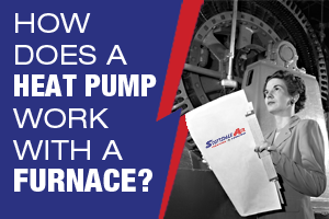 how does a heat pump work with a furnace