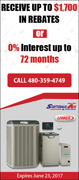 Scottsdale Air Lennox Spring 2017 Rebate Offer